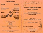 Program; 2002-11-10 by The Royal Serenaders Male Chorus