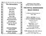 Program; 2007-11-25 by The Royal Serenaders Male Chorus