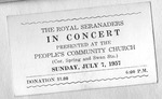 RS-Ticket; 1957-07-07 by The Royal Serenaders Male Chorus
