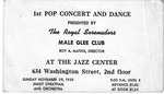 RS-Ticket; 1959-11-29 by The Royal Serenaders Male Chorus