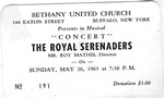 RS-Ticket; 1963-05-26 by The Royal Serenaders Male Chorus