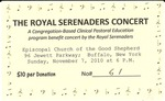 RS-Ticket; 2010-11-07 by The Royal Serenaders Male Chorus