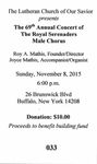 RS-Ticket; 2015-11-08 by The Royal Serenaders Male Chorus