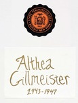 Buffalo State Scrapbook: Althea Gillmeister 1943-1947, Volume 1