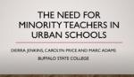 The Need for Minority Teachers in Urban Schools by Dierra Jenkins, Carolyn Price, and Mark Adams