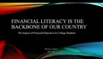 Financial Literacy is the Backbone of our Country