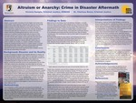 Altruism or Anarchy: Crime in Disaster Aftermath by Victoria Sample