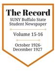 The Record, Volume 15-16, 1926-1927