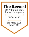The Record, Volume 17, 1928 by The Record, SUNY Buffalo State Student Newspaper