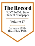 The Record, Volume 47, 1956 by The Record, SUNY Buffalo State Student Newspaper