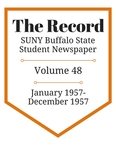 The Record, Volume 48, 1957 by The Record, SUNY Buffalo State Student Newspaper