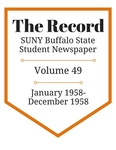 The Record, Volume 49, 1958 by The Record, SUNY Buffalo State Student Newspaper
