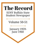 The Record, Volume 50-51, 1959-1960 by The Record, SUNY Buffalo State Student Newspaper