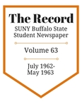 The Record, Volume 63, 1962-1963 by The Record, SUNY Buffalo State Student Newspaper