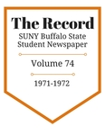 The Record, Volume 74, 1971-1972 by The Record, SUNY Buffalo State Student Newspaper