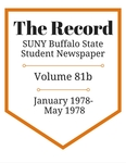 The Record, Volume 81b, 1978 by The Record, SUNY Buffalo State Student Newspaper