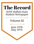 The Record, Volume 82, 1978-1979 by The Record, SUNY Buffalo State Student Newspaper
