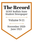 The Record, Volume 9-11, 1920-1923 by The Record, SUNY Buffalo State Student Newspaper