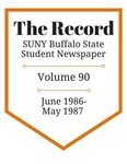 The Record, Volume 90, 1986-1987 by The Record, SUNY Buffalo State Student Newspaper