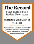 The Record, Combined Volume 1-31, 1913-1941