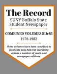 The Record, Combined Volume 81b-85, 1978-1982