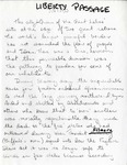 Liberty Passage, Handwritten Intro, n.d.