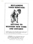 Reclaiming Your Heritage-Getting to WNY and Canada