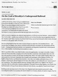 Trail of Brooklyn's Undergound Railroad, NY Times, Oct, 12, 2007