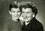 Teodora Daszkiewiczowa With Son Krzysztof
