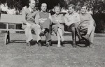 Miss Molly Carter with Officers to Whom She was Teaching English