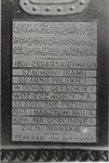 Photo of a Plaque Presented to the Shah of Iran by the Polish Army