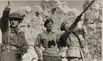 Lt.Colonel Stanislaw Zakrzewski, Lieutenant General Władysław Anders, and General B. Duch