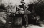 Lieutenant General Władysław Anders Next to a Captured German Tank