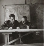 Captain Włodzimierz Drzewieniecki and 1st Lieutenant Zbigniew Łomnicki at Work at the Operational Unit of Polish II Corps