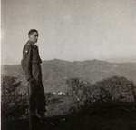 Captain Włodzimierz Drzewieniecki Studying the Terrain in the Apennine Mountains of Italy