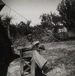 Captain Włodzimierz Drzewieniecki Relaxing at a Bivouac in Italy