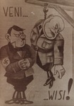 A Polish Poster Depicting Hitler's Relationship with Mussolini