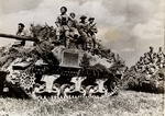 Polish Tanks and Infantry Driving Toward German Lines
