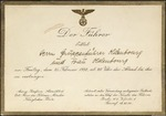 Invitation to Herr Gruppenfuhrer Oldenbourg and His Wife from the German Fuhrer by Unknown