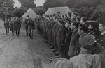 General Włodzimierz Kukiel Inspecting Troops from the 1st Independent Polish Parachute Brigade