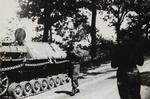 Polish Tank in France After Normandy Invasion