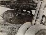 """Bomb with Inscription: """"Za Warszawę"""""""