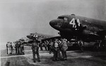 Members of the 1st Independent Polish Parachute Brigade with the 1st British Airborne Division Loading Into 114 Dakota Aircraft