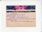 Certificate of Charter; Telegram; 1950-05-26