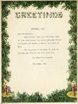 Correspondence; Christmas Card; 1951