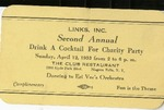 Event; Cocktail Charity Party; 1953