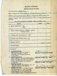 Event; EAC; 1953; Papers; Request For Funds; 1953-03-25