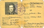 Polish YMCA Identification Card for Zofia Krzyżanowska