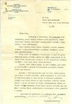 Letter from Wladyslaw Zacharjasiewicz to Zofia Drzewieniecki