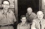 Tadeusz Sypniewski, Zofia Krzyżanowska, Unidentified, and Mr. A.L. Miller